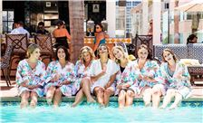 La Valencia Hotel Weddings - Bridemaids Having Fun