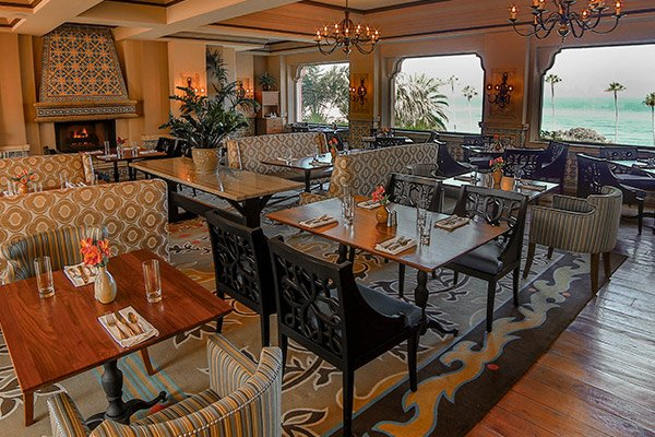 The MED and Patio at La Valencia Hotel, La Jolla